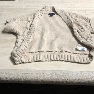 Crochet knit sweater